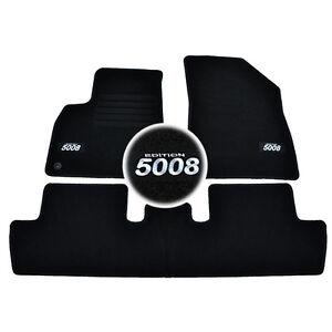 4-Tappeto-Sol-Peugeot-5008-Accesso-Familly-Blue-Moquette-su-Misura-Logo-Bianco