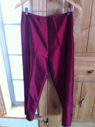 Karen 2 Pc Silk Top Button Kane Pant Up Taglia qEUrwq7