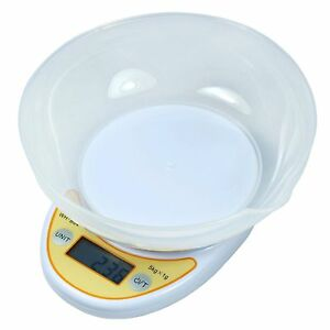 11-lbs-x-1g-Digital-Kitchen-Scale-Diet-Food-Scale-with-Weighing-Bowl-WH-B04