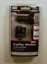 Monster Cable iCarplay 1000 FM Transmitter Charger iPod iPhone Retail NEW