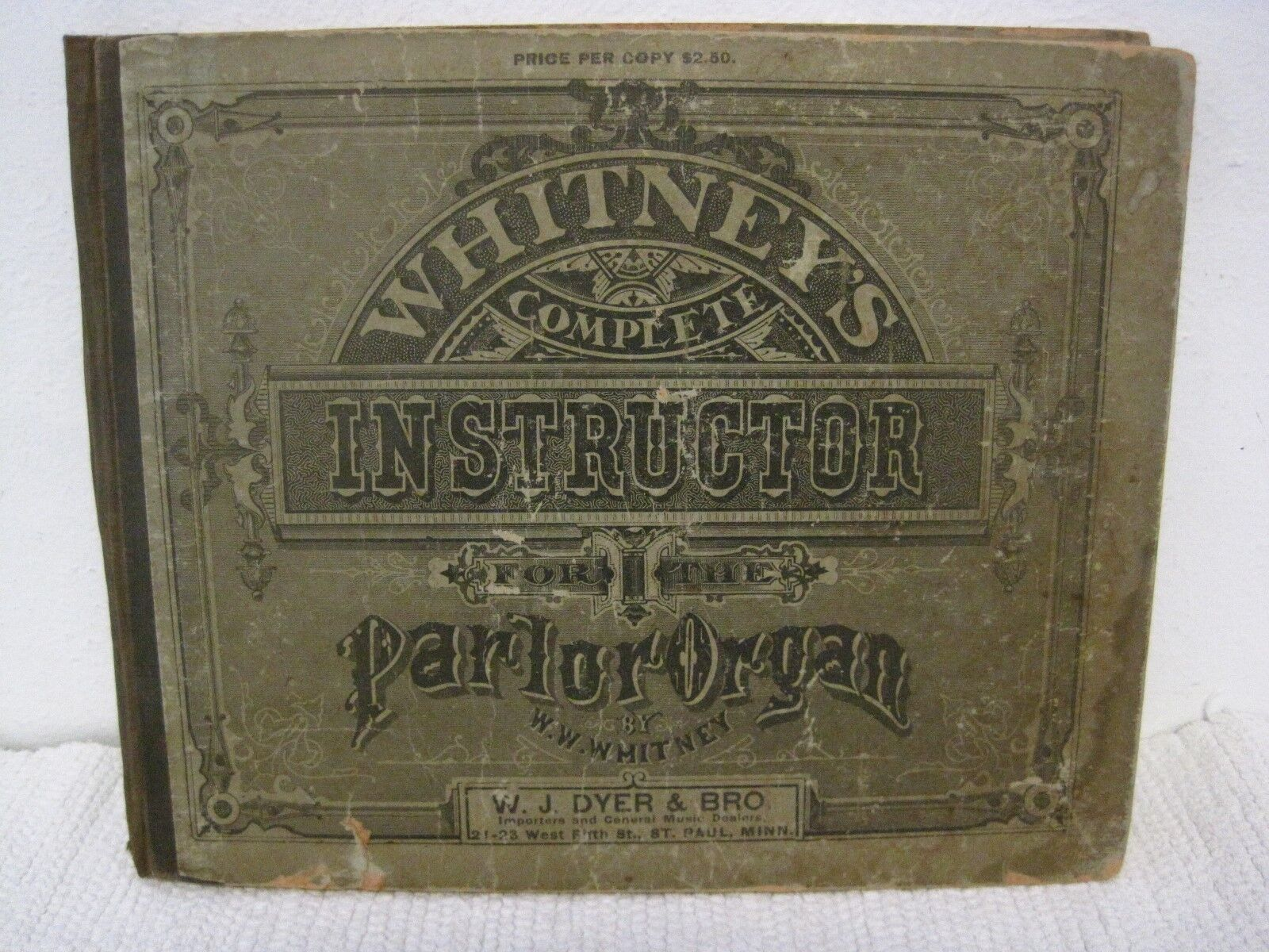 Antique 1878 Whitney's Complete Instructor For The Parlor Organ-FAST SHIPPING