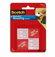 Scotch Removable Heavy-duty Mounting Squares 1 In X 1 In, 16 Ea (pack Of 6) on sale
