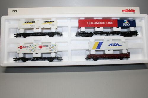 Märklin 47681 Wagen-Set Containertransport Spur H0 OVP