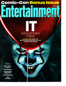 James-McAvoy-autographed-signed-It-Chapter-2-movie-2019-SDCC-promo-EW-magazine