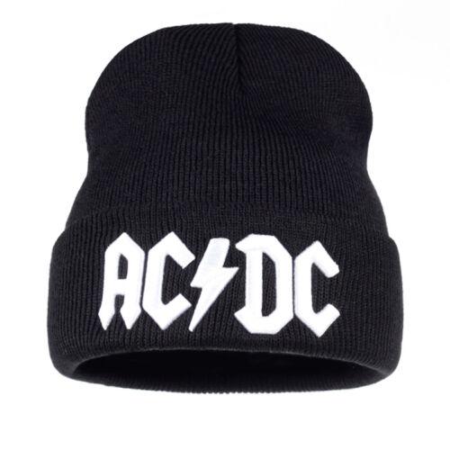 Hommes Femmes Hiver Chaud Bonnet ROCK ACDC AC//DC ROCK BAND Chaud Hiver en Tricot