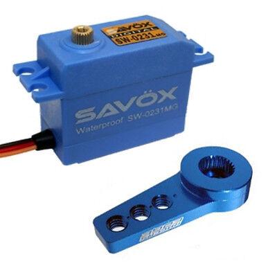 Savox SW-0231MG Waterproof High Torque STD Digital Servo W/FREE ALUMINUM HORN BL