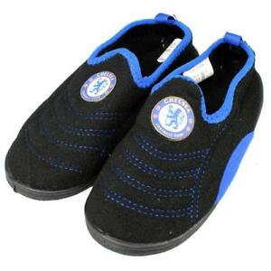 0fff79a1679a Details about Kids Childs Boys Football Boots Boot Slippers With Club Crest  Official Childrens