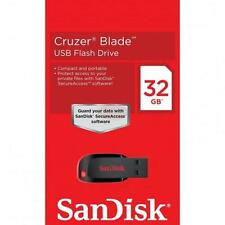 Originali Sandisk Cruzer Blade 32GB 32G CZ50 USB 2.0 Flash Chiavetta Drive