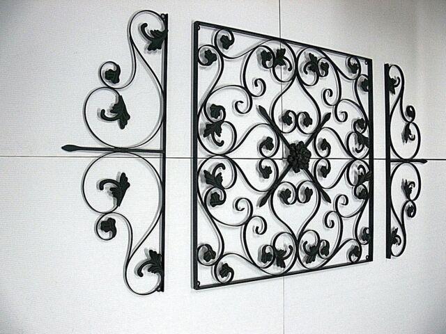XXL FRENCH WALL ART DECOR set of 3  MURAL  NEW black finish