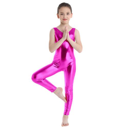 Kids Girls Gymnastics Ballet Jumpsuit Sports Yoga Dance Leotards Yoga Unitards