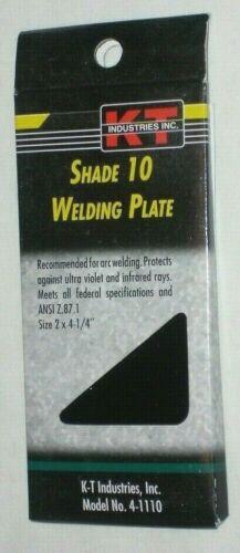 """KT Industries 4-1110 Shade 10 Welding Plate for Welding Helmet 2 x 4 1//4/"""""""