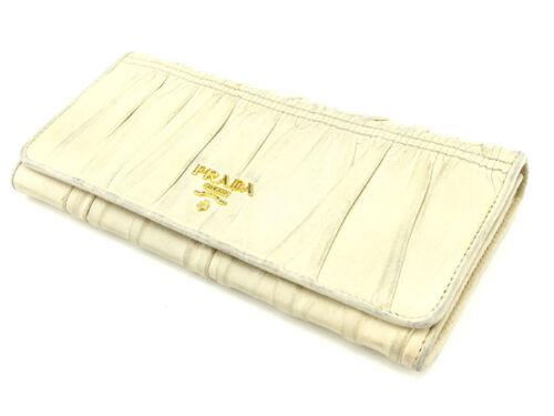 L548 Lange Prada Witte Portemonnee Portemonnee Gebruikt Vrouw Authentiek F5Tl1c3uKJ