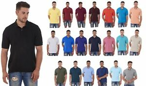 Men-039-s-ex-faMouS-store-Pure-Cotton-Plain-Top-Short-Sleeve-Polo-Tee-T-Shirt