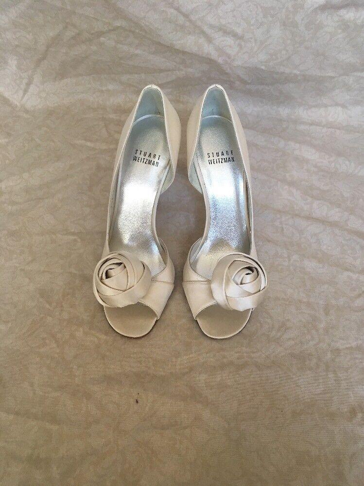 Stuart Weitzman Damens's Pomposo Ivory Satin, Damens's Weitzman Schuhes, Größe 5.5M 7a6880