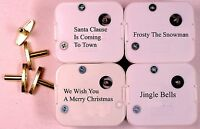 4 Christmas Tunes Sankyo 18 Note Wind Up Music Box Musical Movements With Keys