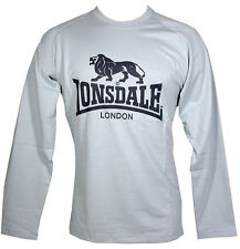 LONSDALE MENS LONG SLEEVE TEE T SHIRT PALE BLUE SIZE M - SMALL FITTING