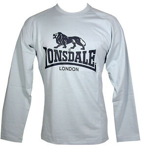 9b68e285130 LONSDALE MEN S LONG SLEEVE TEE T SHIRT PALE BLUE SIZE M - SMALL ...