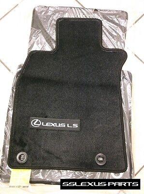 RWD //LongWheel Base Black OEM Lexus LS460L 4pc CARPET FLOOR MATS 2013-2017