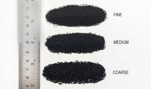coverage area: 57.7 in3 // 945 cm3 Cinders Ballast #Coarse w//Shaker Bottle