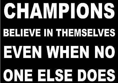 INSPIRATIONAL MOTIVATIONAL SPORTS QUOTE SIGN POSTER PRINT CHAMPIONS
