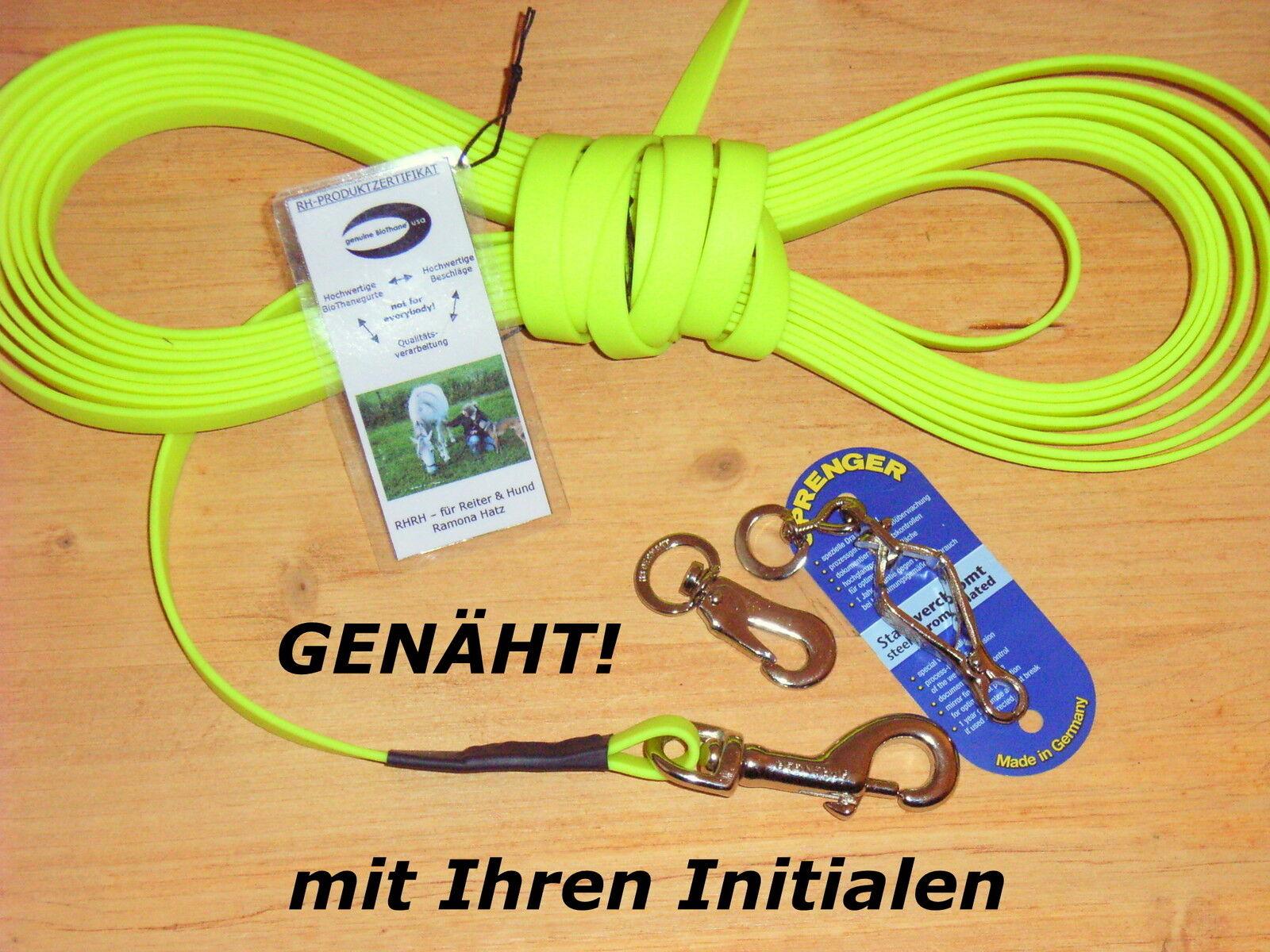 12m BioThane Schleppleine neongelb 19mm Schweissleine Suchleine Fährtenleine  | Elegante und robuste Verpackung