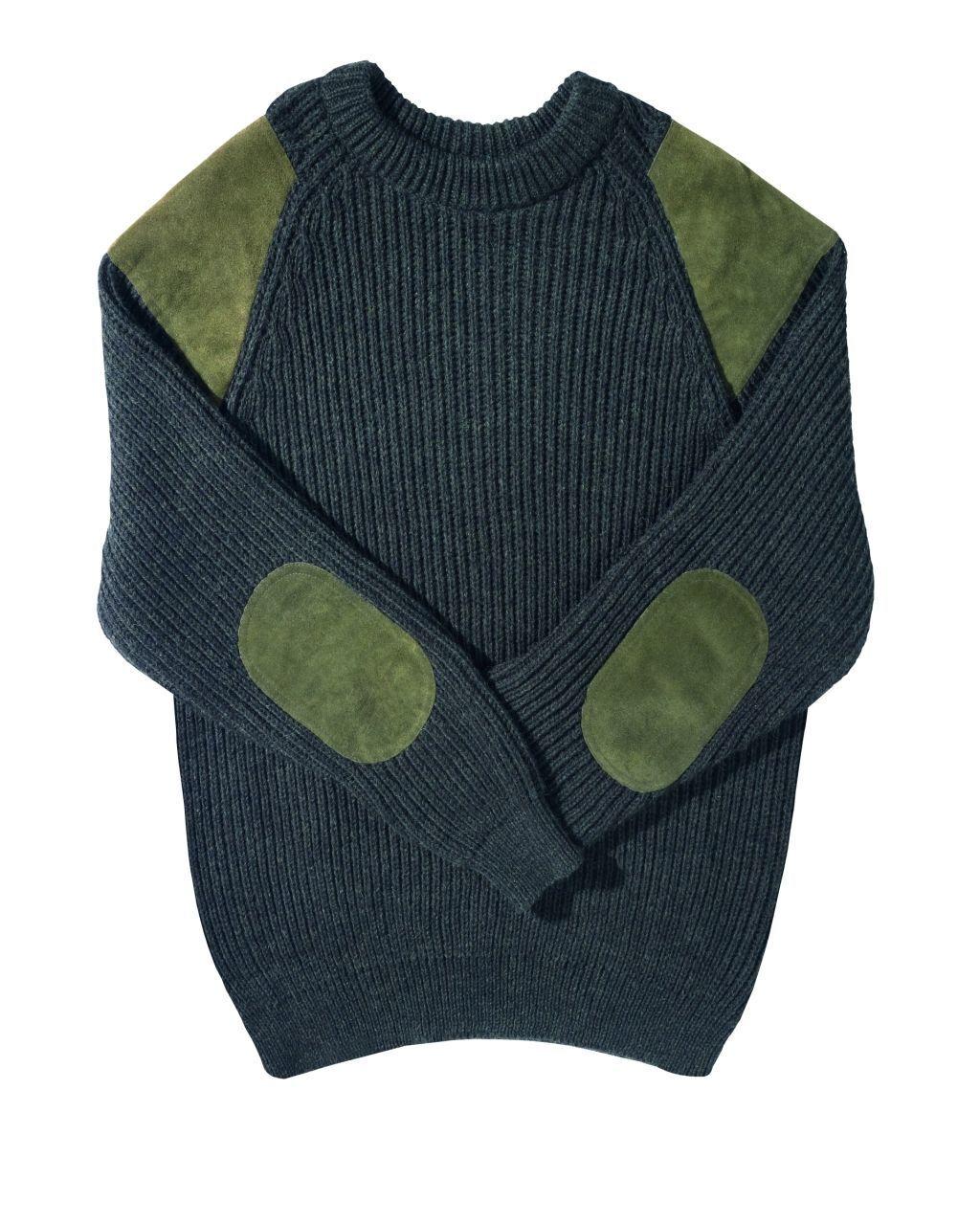 Farm-país Foxford Jersey 90-7-040 dark verde caza suéter Swaledale Jersey