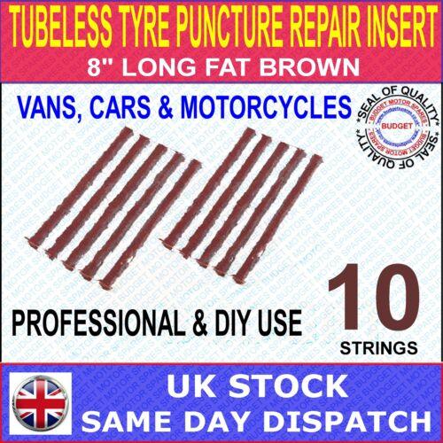 """TUBELESS pneumatico Puncture Repair INSERT 8 /""""Long"""