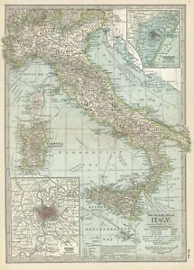 1897 Italy by The Century Co,---a set of 3 maps