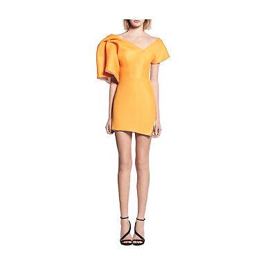 NEW Maticevski Peacock Cocktail Dress Orange