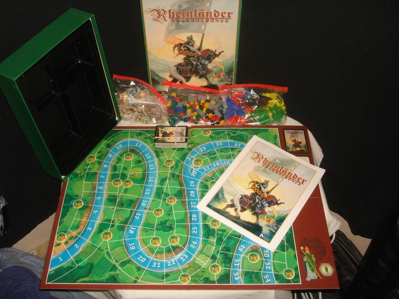 Rheinlander juego por Reiner Knizia Junta Juego Completo Muy Buenas