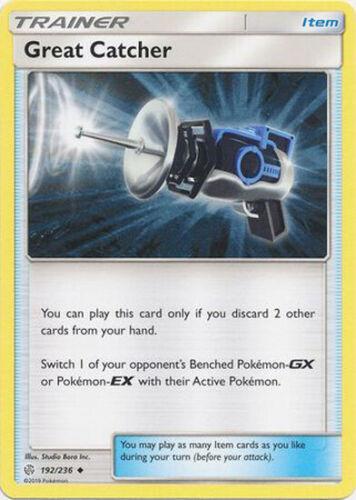 1x Pokemon SM Cosmic Eclipse Great Catcher 192//236 Uncommon NM