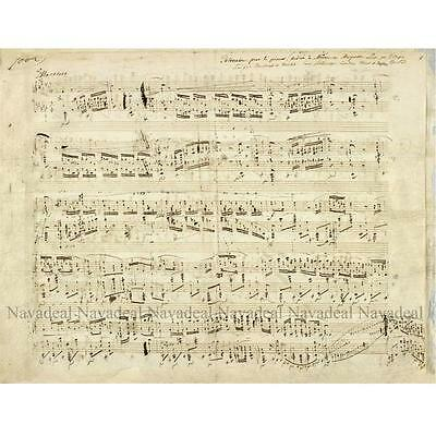 Chopin Piano Music Notes Notations Score Print Decorative Canvas Wall Poster