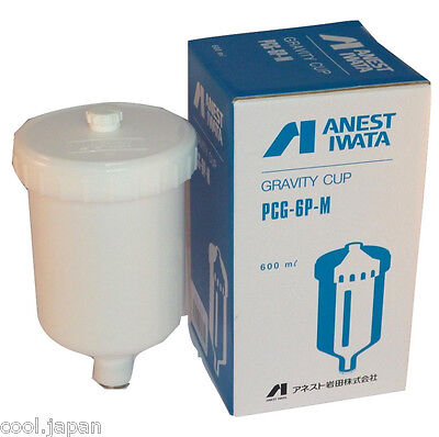 Anest Iwata 600ml Center Gravity Cup PCG-6P-M for W-400-134G 144G LPH-400 Spray