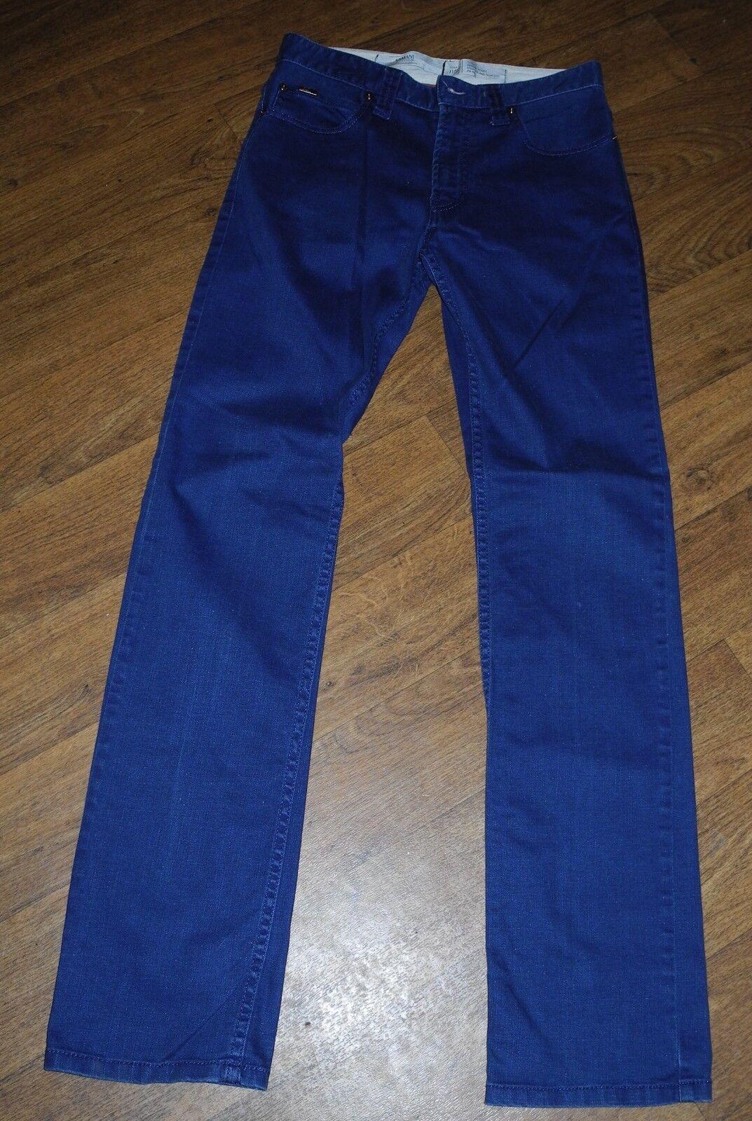 Authentic ARMANI COLLEZIONI J15 Slim Fit Straight Leg Men's bluee Jeans Sz 30X33