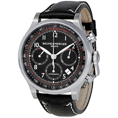 Baume and Mercier Capeland Black Dial Chronograph Mens Watch MOA10001