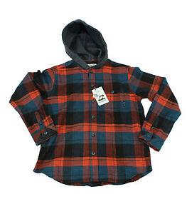 Camicia-da-bambino-rossa-a-quadri-scozzese-Billabong-venture-junior-manica-lunga