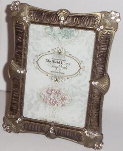 "Sheffield Home Vintage Jewels ~ 6"" x 4"" - Brown Shades  3G46-46 - BRN"