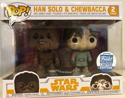 Funko Pop Star Wars 2 Pack HAN SOLO /& CHEWBACCA CONTRABBANDIERI BOUNTY preor esclusivo