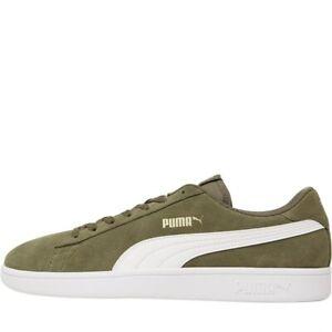 Puma Homme Smash V2 Tennis Style Baskets Avec softfoam Vert Olive