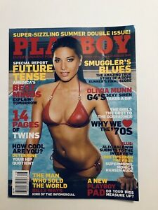 Playboy-Magazine-July-August-2009-Back-Issues-Vintage-with-Centerfold-Intact