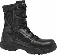 "Belleville Chrome TR998 Z WP CT  8"" Black Waterproof Side Zip Composite Toe Boot"