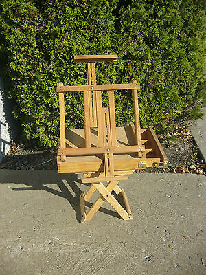 Wooden Table Top Artist Sketch Box Easel with sliding drawer
