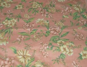 Cottage Rose Roses Faded Cotton Flannel Fabric 7 8 Yard 17840 Shabby Chic Ebay