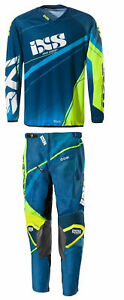 Offroad-Gear-Jersey-Pants-Combo-IXS-ATV-Dirtbike-MX-Motocross-Blue-Yellow