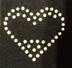 /'My Heart Belongs to ENGLAND/' Rhinestone Transfer Hotfix Iron on Motif Gift