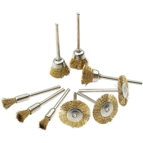 9pcs//lot Brass Brush Wire Brushes Die Grinder Rotary Electric Tools For Engraver