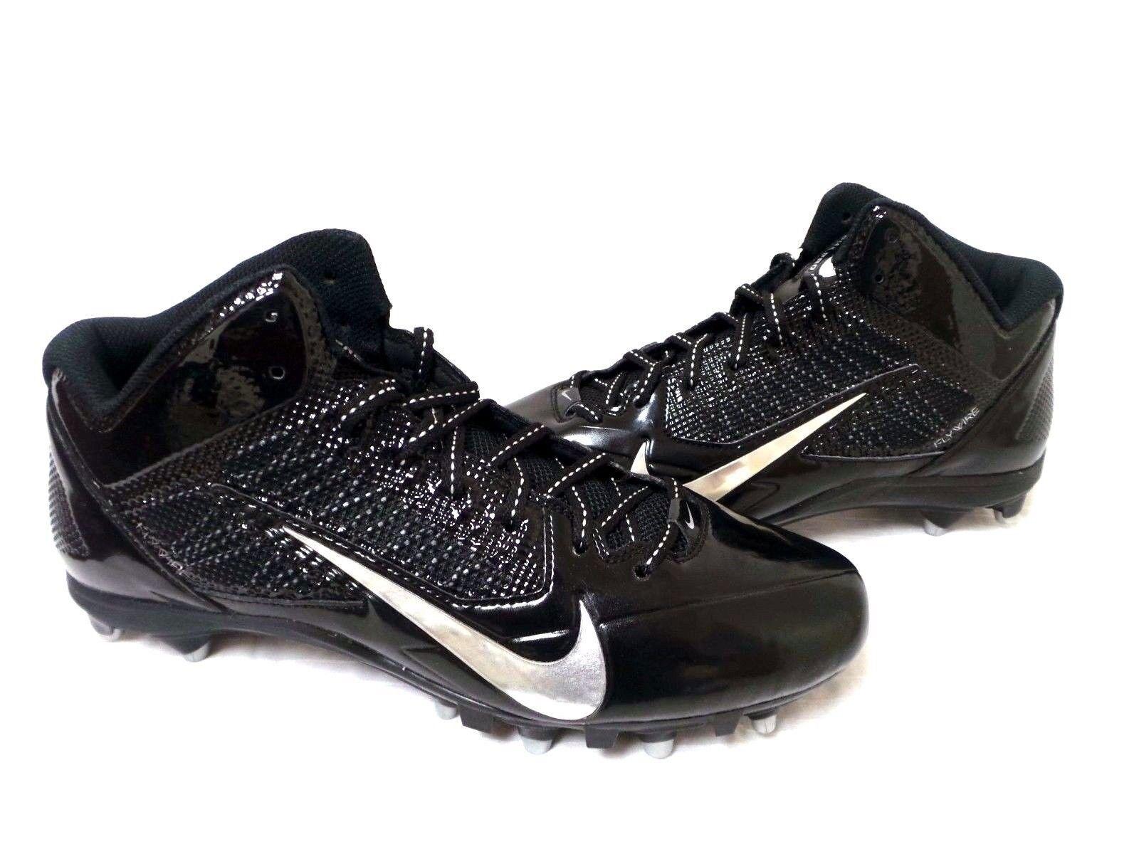 Men's Nike Alpha Pro 3/4 TD Football Cleats - Black/Silver - NIB!