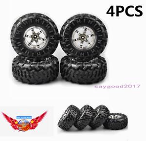 4X-130mm-Tires-amp-Wheel-Hex-Rim-For-1-10-RC-Bigfoot-Monster-Climbing-Crawler-Truck