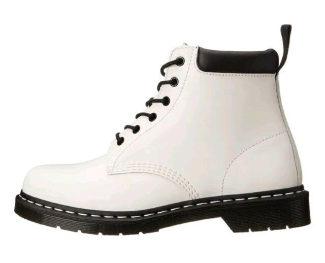 85ec9c04ad Mens Air Wair Dr. Martens R16754100 939 Padded 6 Eye White Smooth Boot 12 M