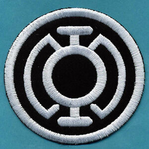 3-5-034-Blue-Lantern-Corps-Classic-Style-Embroidered-Patch-White-thread-on-Black